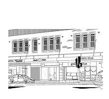 Newtown Street Scape by CLOUDart