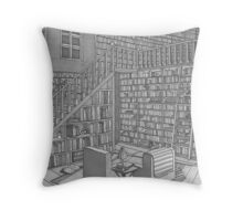 The Book Room Throw Pillow