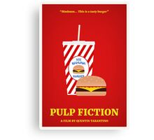 Pulp Fiction film poster Canvas Print