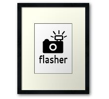 Flasher Framed Print