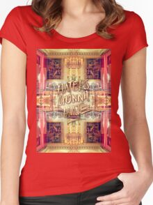 Haters Gonna Hate Queen Marie-Antoinette Petit Trianon Women's Fitted Scoop T-Shirt