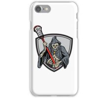 Grim Reaper Lacrosse Player Crosse Stick Retro iPhone Case/Skin