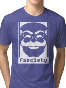 Mr. Robot TV Series Banksy Fsociety Tri-blend T-Shirt