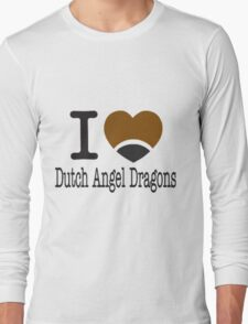 I heart Dutch Angel Dragons (Telephone version) Long Sleeve T-Shirt