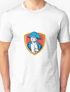 Napoleon Bonaparte Bicorn Hat Shield Retro T-Shirt