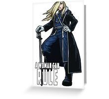 Olivier Milla Armstrong FullMetal Alchemist Greeting Card