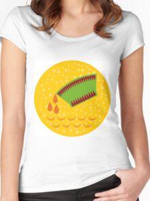 Water-Bearer or Aquarius zodiac sign Women's Fitted Scoop T-Shirt