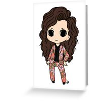 Harry Styles Coral Floral Greeting Card