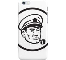 Sea Captain Smoke Pipe Circle Retro iPhone Case/Skin