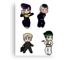 Diamond is Unbreakable Chibi collection Canvas Print