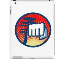 Fist Punching Cypress Tree Circle Retro iPad Case/Skin