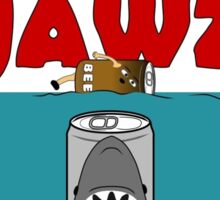 BEER : BEER CAN JAWZ Sticker