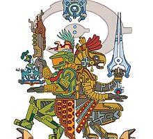 "Halo Inspired Maya design ""Gods Among""  by RetroNerd"