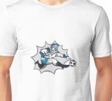 Roman Warrior Soccer Player Ball Retro Unisex T-Shirt