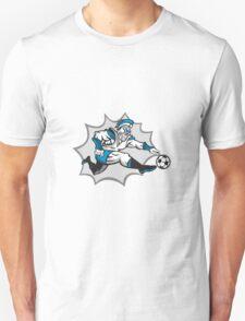 Roman Warrior Soccer Player Ball Retro T-Shirt