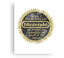 Nintendo Seal of Quality Canvas Print