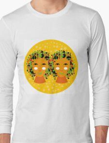 Gemini or twins zodiac sign Long Sleeve T-Shirt