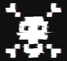 Pixel Skull Distort by Kanyon Schumacher