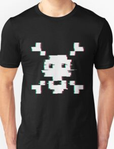 Pixel Skull Distort T-Shirt