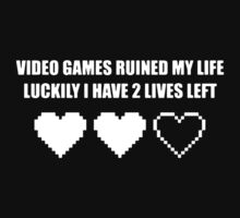 VIDEO GAMES RUINED MY LIFE FUNNY Kids Clothes