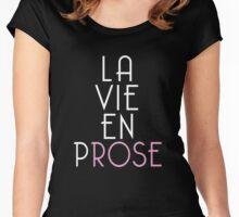 La Vie En Prose (La Vie En Rose - Dark Background) Women's Fitted Scoop T-Shirt