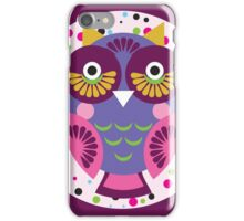 Purple owl iPhone Case/Skin