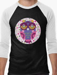 Purple owl Men's Baseball ¾ T-Shirt