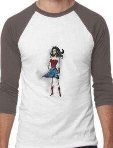Gothic Wonder Men's Baseball ¾ T-Shirt