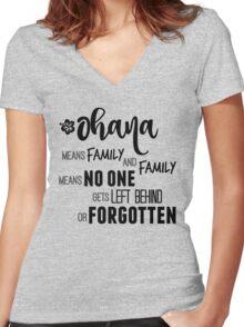 Ohana Women's Fitted V-Neck T-Shirt