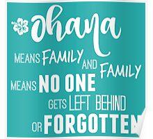Ohana in white Poster