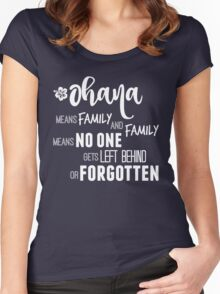 Ohana in white Women's Fitted Scoop T-Shirt