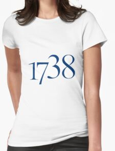 1738 - navy Womens Fitted T-Shirt