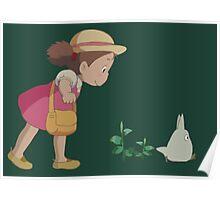 Mei & Chibi Totoro Poster