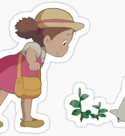 Mei & Chibi Totoro Sticker