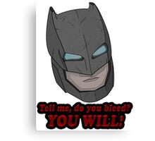 Batman Bat-Armour Canvas Print