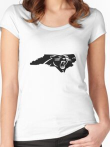 Carolina Panthers North funny nerd geek geeky Women's Fitted Scoop T-Shirt