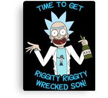 rick and morty, rick, morty, cartoon, funny, wuba, riggity, dab on them folk, cam newton. Canvas Print