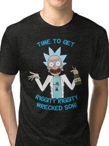 rick and morty, rick, morty, cartoon, funny, wuba, riggity, dab on them folk, cam newton. Tri-blend T-Shirt