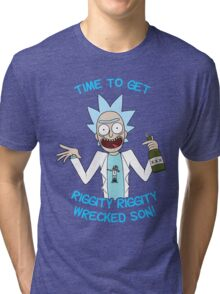 rick and morty, rick, morty, cartoon, funny, wuba, riggity, dab on them folk, cam newton. Tri-blend T-Shirt