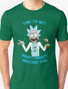 rick and morty, rick, morty, cartoon, funny, wuba, riggity, dab on them folk, cam newton. T-Shirt
