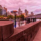 Sunsetting Hue Over Melbourne by Stephen Ruane