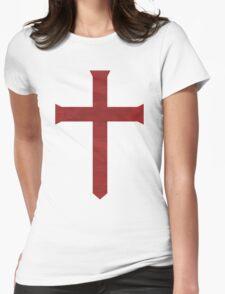 Templar Cross Womens Fitted T-Shirt