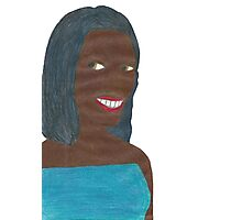Random Black Girl (Just Image) Photographic Print