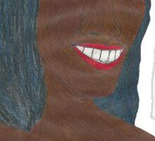 Random Black Girl (Just Image) Sticker