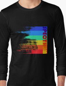 Faded retro pop spectrum colors Long Sleeve T-Shirt