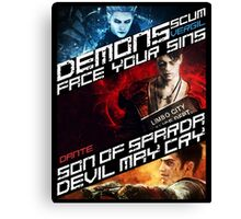 DmC Devil May Cry demon brothers Canvas Print