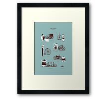 Meet The Cyclists Framed Print