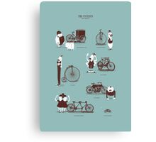 Meet The Cyclists Canvas Print