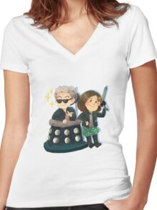Doctor Who - The Cool Kids Women's Fitted V-Neck T-Shirt