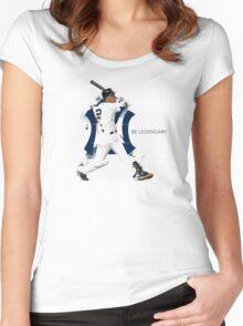 Derek Jeter Be Legendary Women's Fitted Scoop T-Shirt